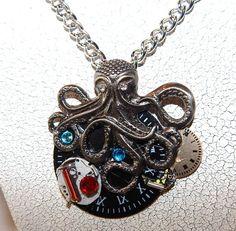 Handmade Necklace Steampunk Inspired by DeanasQuiltsandMore