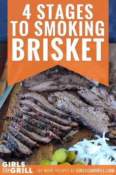 The 4 Stages to Smoking a Brisket Traeger Recipes, Smoked Meat Recipes, Barbecue Recipes, Grilling Recipes, Beef Recipes, Recipies, Grilled Brisket, Smoked Beef Brisket, Bbq Brisket