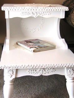 Shabby Chic Applique Side Table