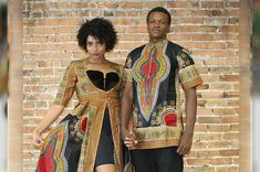 This Dashiki couple set is great for prom or any occasion.The dress has a zipper on the side Made with Cotton Couples African Outfits, African Clothing For Men, African Attire, African Wear, African Dress, African Clothes, African Party Dresses, African Fashion Dresses, Matching Couple Outfits