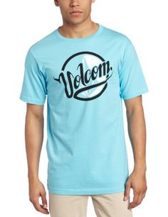 Volcom Men's Scythe Script Short Sleeve Tee, Blue Drift, Medium $18.94 #Apparel #Volcom