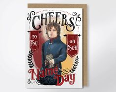 Cheers To You On Your Name Day - Game Of Thrones Birthday Card by DrunkGirlDesigns