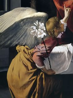 Orazio Gentileschi (c. Orazio Gentileschi, Artemisia Gentileschi, Lucas 1 26 38, Renaissance Paintings, Renaissance Art, Italian Baroque, Archangel Gabriel, Angels Among Us, Art Sites