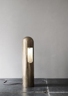 Bronze table lamp by Rick Owens