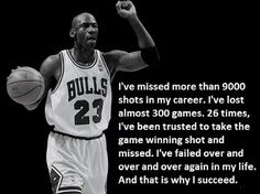 One of Michael Jordan's inspirational quotes to help you excel at basketball.