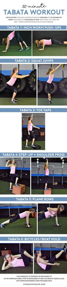 A full body tabata workout that will leave you sweaty in just 30 minutes, courtesy of the trainers at Bayshore Fit in Tampa.