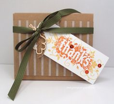 Jean's Paper Jewels: Thanks Takeout Box #stampinupdemonstrator, #papercrafting, #fall, #treatbox