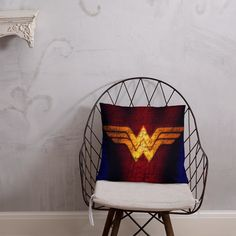 Wonder Woman Symbol Pillow Afternoon Nap, Book Stuff, Comic Book, Wonder Woman, Symbols, Pillows, Room, Graphic Novels, Bedroom