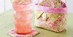Use the Caddy Alone for Storing This or That! A pretty little fabric caddy holds eight matching coasters for a lovely and useful accent for your home. This is also a wonderful gift, made up in whatever colors you prefer. Both the coasters and caddy are simple to make. The coasters are strip pieced and …