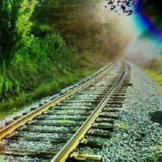 #INSTAGRAM -- RAILROAD TRACKS -- follow me on instagram @slaphappyturtle
