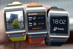 Samsung Galaxy Gear smartwatch  This looks cool but I rather get a apple watch product.