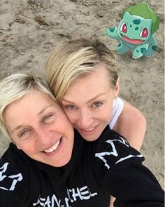 Pin for Later: 30 Celebrities Who Appear to Be Aspiring Pokémon Masters Ellen DeGeneres