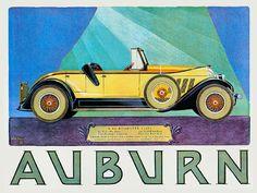 Auburn Roadster 8-88 motoring advertisement motoring advert reproduction art…