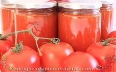 Receta saludable de salsa de tomate frito casera (sin azúcar, con stevia) y cómo hacerlo en conserva bajo en calorías y colesterol, apto para diabéticos. COCINA FÁCIL Y SANA. INCLUYE VÍDEO.
