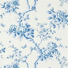 The wallpaper Ashfield Floral Delft - from Ralph Lauren is wallpaper with the dimensions m x m. The wallpaper Ashfield Floral Delft -
