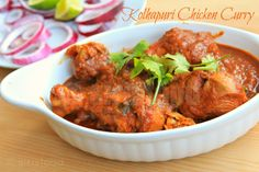 Kolhapuri Chicken is a Indian Chicken curry with bursting flavours Indian Chicken Recipes, Chicken Recipes Video, Baked Chicken Recipes, Spicy Recipes, Greek Recipes, Curry Recipes, Indian Food Recipes, Ethnic Recipes, Veg Recipes