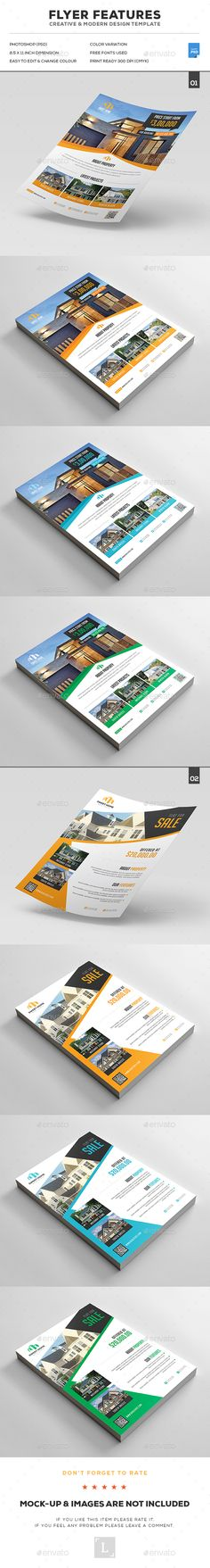 Real Estate Flyer Bundle Templates PSD. Download here…