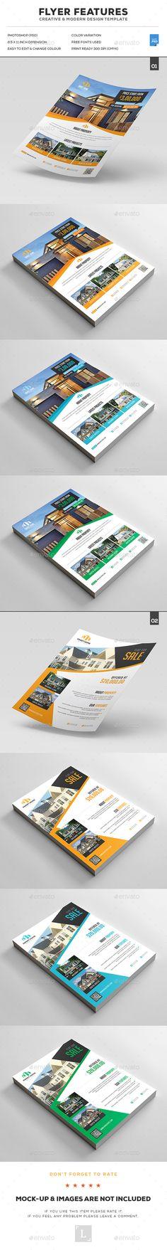 Real Estate Flyer Bundle Templates PSD. Download here: https://graphicriver.net/item/real-estate-flyer-bundle/16954518?ref=ksioks