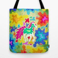 Splattered Unicorn Tote Bag by That's So Unicorny - $22.00