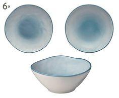 Servizio di piatti in ceramica azzurro - 18 pezzi
