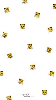 Wallpaper Leopard / Fablouise.nl #wallpaper #background #leopard #print #pattern #iPhone #illustration