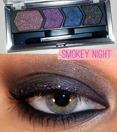 "New Maybelline Eye Studio Color Plush Eyeshadow Quad, ""Smokey Night,"" Photographs, Swatches, & Tutorial"