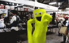 New Picture GIF dancing man air balloon bonhomme via Giphy. Clover App, New Trends, New Pictures, Halloween Fun, Dinosaur Stuffed Animal, Shit Happens, Check, Application Development, Web Application