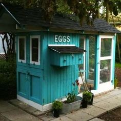 Robin's Egg Blue - DIY Chicken Coops - 15 Inspiring Designs - Bob Vila