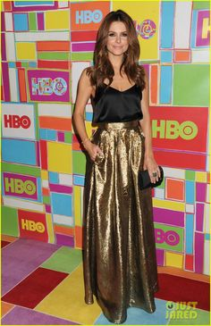 Maria Menounos gets all glammed up for HBO's Primetime Emmy Awards Post Awards Reception held at The Plaza at the Pacific Design Center after the 2014 Emmy Awards…
