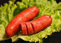 Kranjska klobasa (Slovenia) It is a pork sausage which is made with pork (about 20% of it is bacon), salt, pepper, garlic and water.