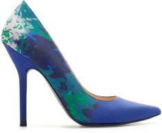 Zara Combined High Heel Court Shoe on shopstyle.com