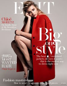 Chloe Grace Moretz featured on the The Edit cover from May 2016