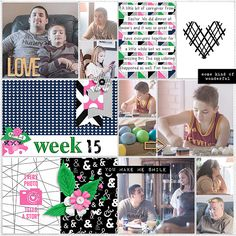 Pocket Life '15: April Collection by Traci Reed 365Unscripted: Plastic Stitched Grids by Traci Reed #tracireeddesigns