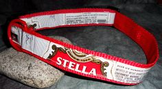 Adjustable Dog Collar from Stella Artois Beer labels by squigglechick, $18.00