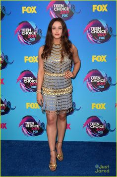 e8c80063bd01 Katherine Langford Gave Us Reasons  To Obsess Over Her Teen Choice Awards  2017 Look  Photo Katherine Langford shines in chic Prada dress 2017 Teen  Choice ...