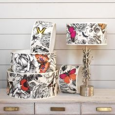 Zirconia Butterfly Garden Lamp Shades - Lamp Shades - Lighting Accessories - Lighting & Mirrors