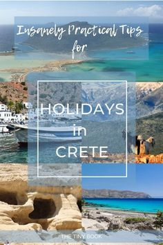 Insanely Practical Tips for Holidays in Crete - The Tiny Book Mykonos Greece, Crete Greece, Athens Greece, Santorini, Top Travel Destinations, Places To Travel, Travel Pics, Travel Articles, Travel Europe