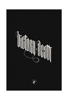 Victory or Death / Screenprint on Behance