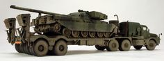 Modern British Army Cheiftain tank and transporter