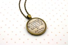 Harry Potter, Sirius Black, 'We've All Got Both Light And Dark', J K Rowling Quote Necklace or Keychain