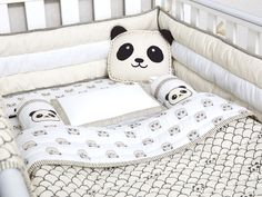 Peekaboo Panda-Organic Crib Bedding Set, Baby Bedding Set, Baby Blanket, Baby Bedding, Baby Crib, Panda Crib Set, Gender Neutral Bedding Set