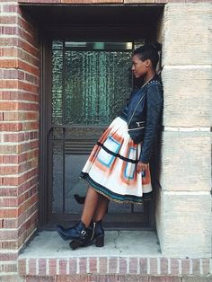 It's that skirt again #Silverwears #africanprint #alineskirt #proudlysouthafrican #fashion