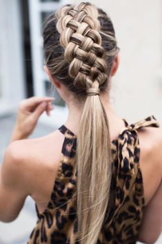 Braided Ponytail ❤️ Braided mohawk is a hairstyle., Braided Ponytail ❤️ Braided mohawk is a hairstyle that will teach how to look unique. Check out the combination of the . Braided Ponytail Hairstyles, Daily Hairstyles, Box Braids Hairstyles, Cool Hairstyles, Ponytail Easy, Hairstyles Haircuts, Mohawk Updo, Easy Chignon, Fun Ponytails