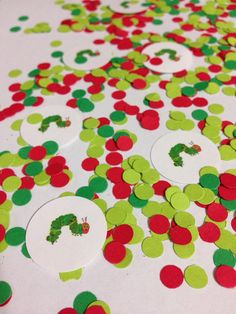 400 piece Very Hungry Caterpillar Themed Personalized Confetti Baby Shower Birthday Party