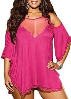 FENTI Women Plus Size Babydoll Jersey Knit Camisole Dress Lace Trim Lingerie, http://www.amazon.com/dp/B01ASQGVXK/ref=cm_sw_r_pi_awdm_x_qwe-xbEM3P88Z