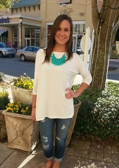 More 3/4 Sleeve PIKO TOPS are now in!! Shopdestinstars.bigcartel.com to order! Only $24.95 #piko #pikotops #fashion