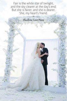 Wedding ceremony reading from Shoshone Love Poem Wedding Script, Wedding Poems, Wedding Wishes, Friend Wedding, Wedding Blog, Our Wedding, Pagan Wedding, Wedding Rituals, Celtic Wedding
