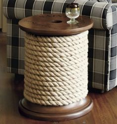 How to make your own spool side table! EEK! If only I wasn't afraid of power tools... (From Life Crafts and Whatever)