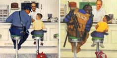 Officer Friendly has changed a bit over the years