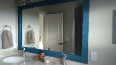 DIY Bathroom Mirror ; Bathroom Mirror Frame ; Wooden Bathroom Mirror
